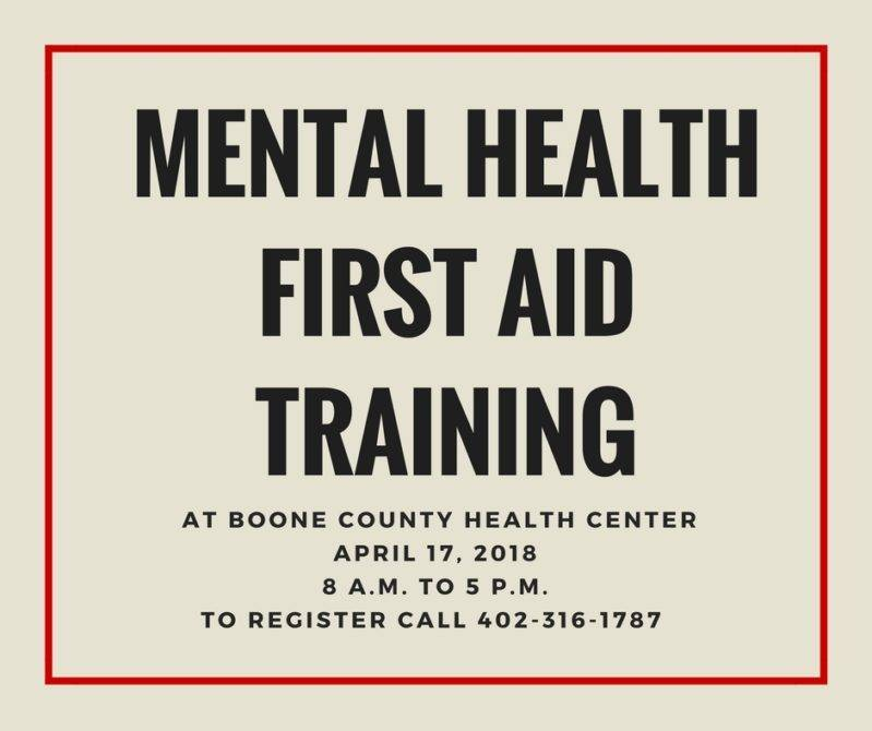 Mental Health First Aid Training | Boone County Health Center